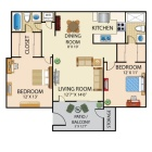 Roommate wanted to share a 2bed/2bath apt with W/D in unit