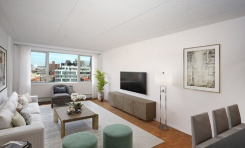 Apartments Near New York NO FEE! Large East-facing Studio Avail in Soho's Best Luxury Bldg w/Attended Parking, Garden & Fitness. for New York Students in , NY