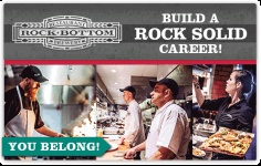 Dishwashers, Line & Prep Cooks (Rock Bottom)