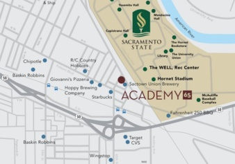 Find your Hive at Academy 65! nd New Apartments near ... Sacramento State University Map on sacramento visitor map, sacramento state portfolio, virginia university map, university of southern california map, vol state campus map, sacramento state campus, delaware university map, university of south florida map, university of michigan map, saint peter's university map, sacramento state alumni, uc merced university map, central arkansas university map, unlv university map, sacramento state baseball field, washington university map, sac campus map, sacramento state school, northern az university map, university of the pacific map,