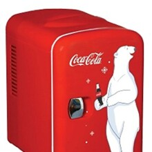Coca Cola KWC-4 6-Can Personal Mini 12-V Car Fridge