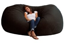 Big Joe XXL Fuf in Comfort Suede, Black Onyx